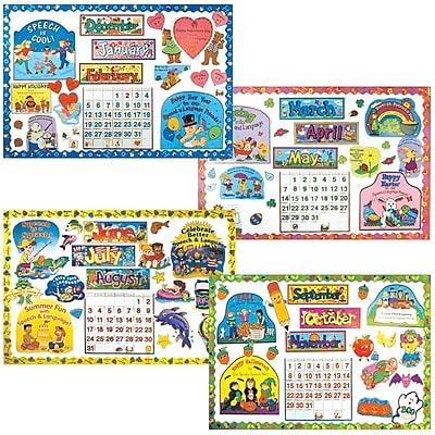Super Duper® Bulletin Board Set, Year 'Round Speech Calendar and Characters
