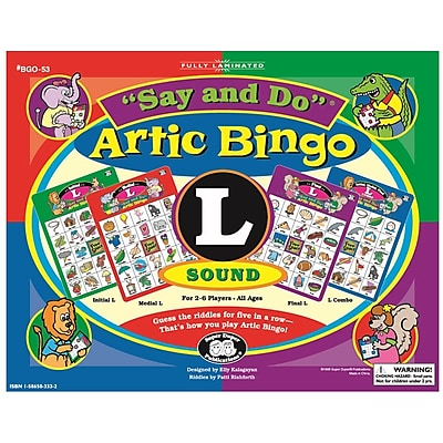 Super Duper® Say and Do® L Artic Bingo Sound Game