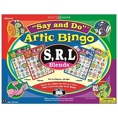 Super Duper® Say and Do® S, R, L Blends Bingo Sound Game