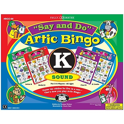 Super Duper® Say and Do® K Artic Bingo Sound Game