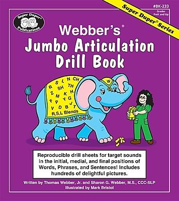 Super Duper® Webber® Jumbo Articulation Drill Book