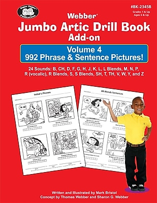 Super Duper® Jumbo Artic Drill Book PHRASE and SENTENCE Add-On Book