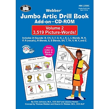 Super Duper® Jumbo Artic Drill Book PICTURE-WORDS Add-On CD-ROM