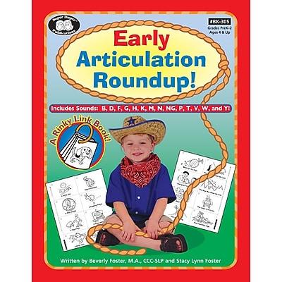 Super Duper® Early Articulation Roundup Fun Sheets Workbook