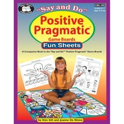 Super Duper® Say and Do® Positive Pragmatic® Game Boards Fun Sheets Resource Book