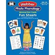Super Duper® Webber® Photo Phonology Minimal Pair Cards Fun Sheets Book