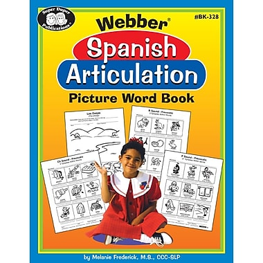 Super Duper® Webber® Spanish Articulation Picture Word Book