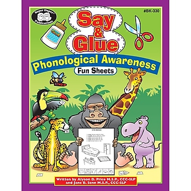 Super Duper® Say & Glue® Phonological Awareness Fun Sheets, Grades PreK-5