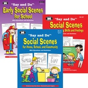 Super Duper® Say and Do® Social Scenes Life Skills Resource Combo Book, 2/Bundle