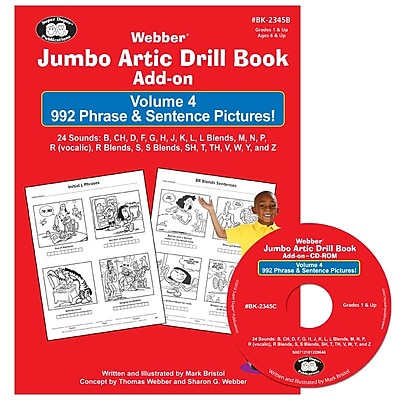 Super Duper® Jumbo Artic Drill Book PHRASE and SENTENCE Book and CD-ROM Combo