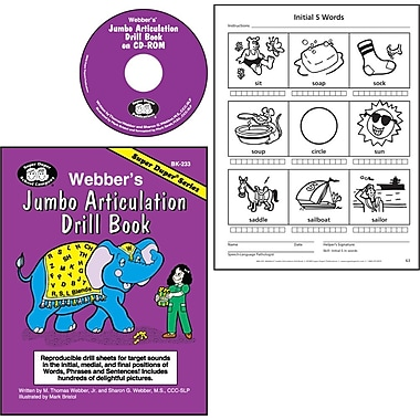 Super Duper® Webber® Jumbo Artic Drill Book Combo