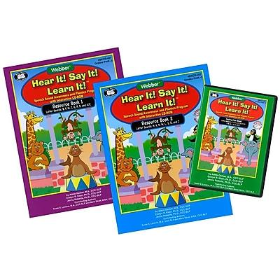 Super Duper® Webber® Hear It! Say It! Learn It! Interactive Book-Software Program