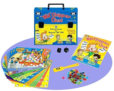 Super Duper® Chipper Chat® Laminated Board Game With Magnetic Chips for
