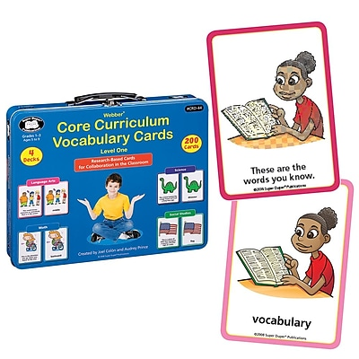 Super Duper® Webber® Level One Core Curriculum Vocabulary Cards
