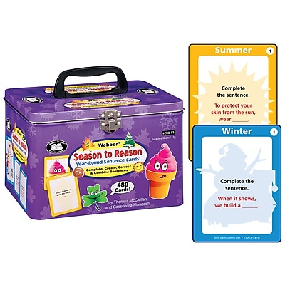 Super Duper® Webber® Season to Reason™ Year-Round Sentence Cards