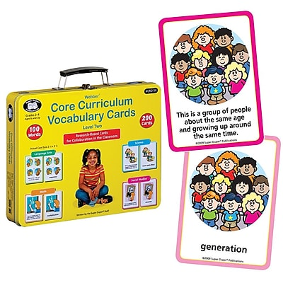 Super Duper® Webber® Level Two Core Curriculum Vocabulary Cards