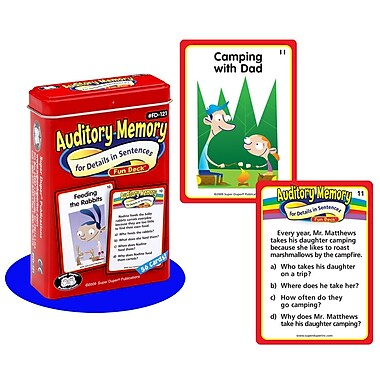 Super Duper® Auditory Memory For Details in Sentences Fun Deck Cards
