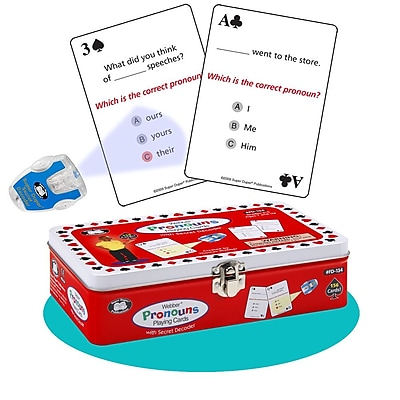 Super Duper® Webber® Pronouns Playing Cards With Secret Decoder