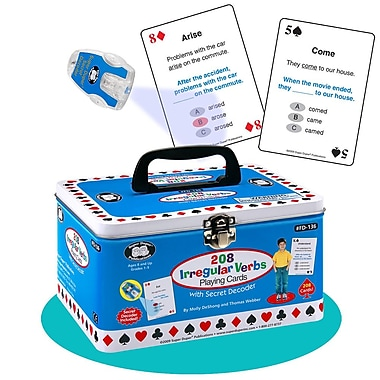 Super Duper® 208 Irregular Verbs Playing Cards With Secret Decoder