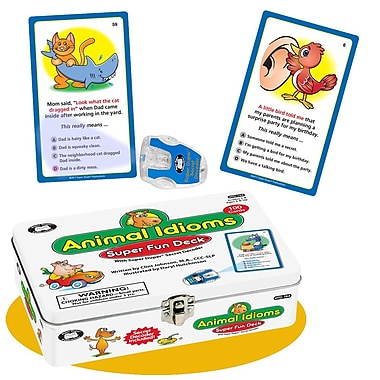 Super Duper® Animal Idioms Super Fun Deck® With Secret Decoder