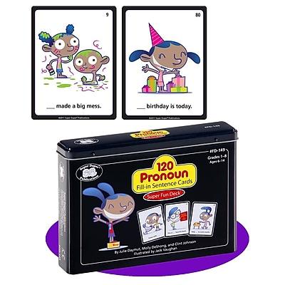 Super Duper® 120 Pronoun Fill-in Sentence Super Fun Deck Cards