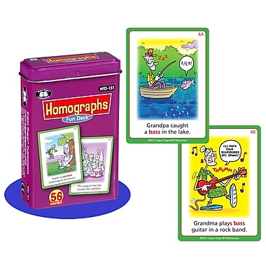 Super Duper® Homographs Fun Deck Cards