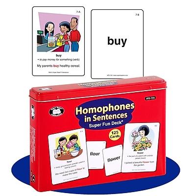 Super Duper® Homophones in Sentences Super Fun Deck Cards