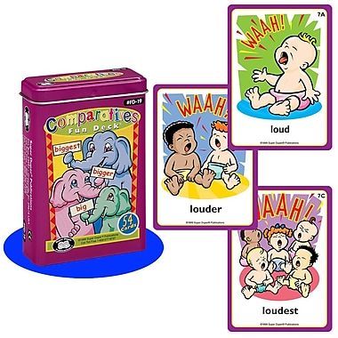 Super Duper® Comparatives Fun Deck® Cards