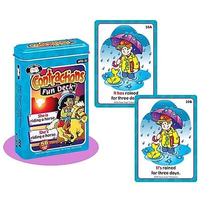 Super Duper® Contractions Fun Deck® Cards
