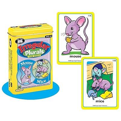 Super Duper® Irregular Plurals Fun Deck® Cards