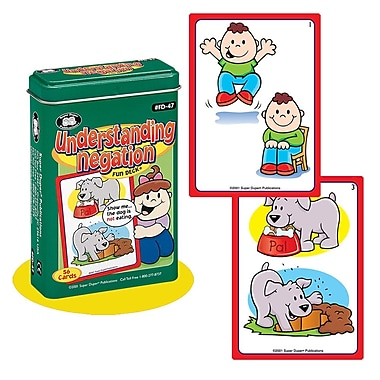 Super Duper® Understanding Negation Fun Deck® Cards