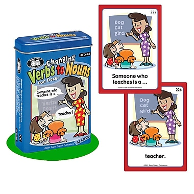 Super Duper® Changing Verbs to Nouns Fun Deck® Cards