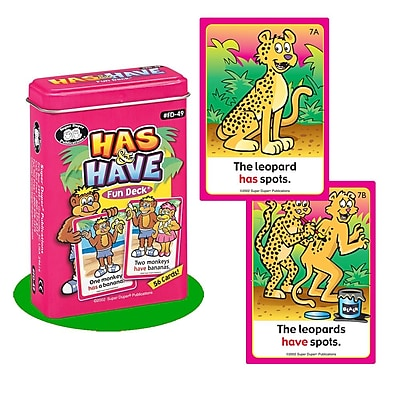 Super Duper® Has & Have Fun Deck® Cards