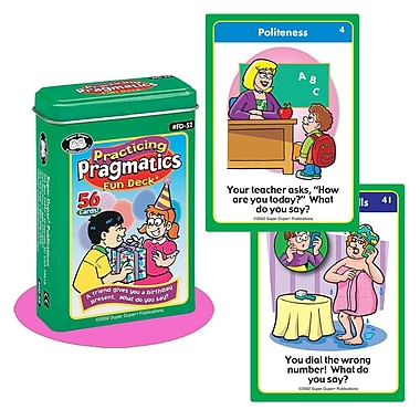 Super Duper® Practicing Pragmatics Fun Deck Cards