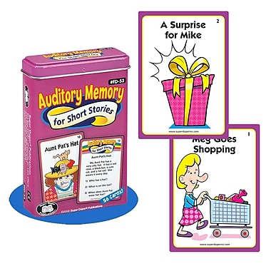 Super Duper® Auditory Memory For Short Stories Fun Deck Cards