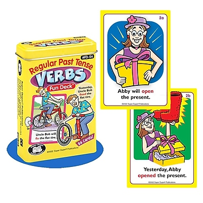 Super Duper® Regular Past Tense Verbs Fun Deck® Cards