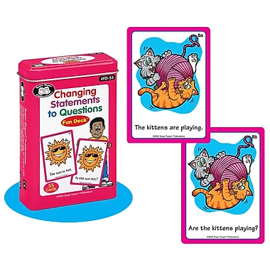 Super Duper® Changing Statements to Questions Fun Deck Cards
