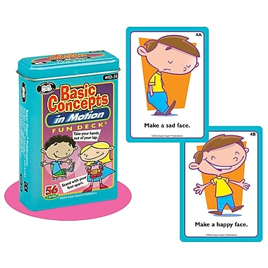 Super Duper® Basic Concepts in Motion Fun Deck Cards