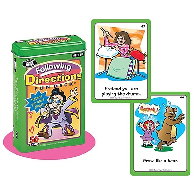 Super Duper® Following Directions Fun Deck Cards