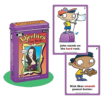 Super Duper® Adjectives Fun Deck Cards