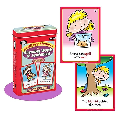 Super Duper® Auditory Memory For Rhyming Words In Sentences Fun Deck Cards
