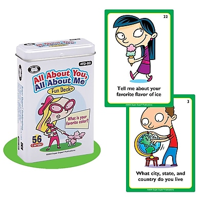 Super Duper® All About You, All About Me Fun Deck Cards
