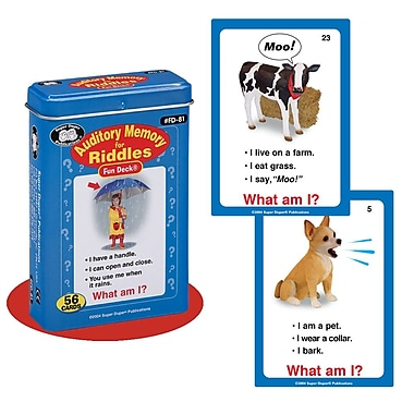 Super Duper® Auditory Memory For Riddles Fun Deck Cards