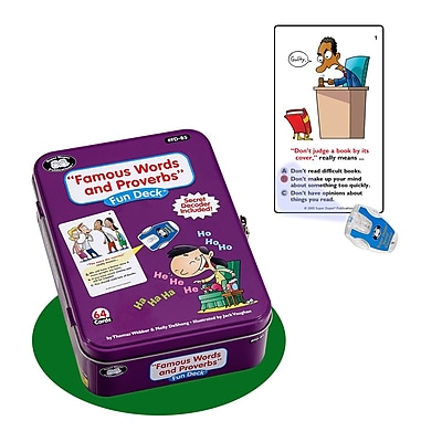 Super Duper® Famous Words and Proverbs Super Fun Deck® Cards With Secret Decoder