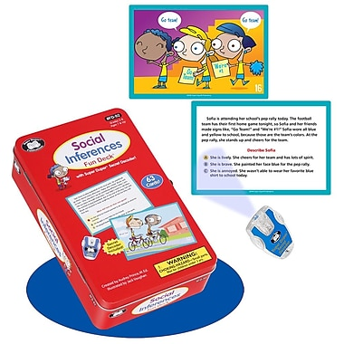 Super Duper® Social Inferences Fun Deck® Cards With Secret Decoder