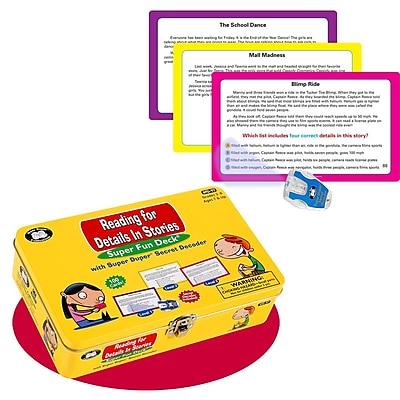 Super Duper® Reading For Details in Stories Super Fun Deck® Cards With Secret Decoder