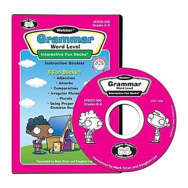 Super Duper® Webber® Grammar Word Level Interactive Fun Decks® CD-ROM