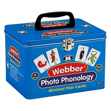 Super Duper® Webber® Photo Phonology Minimal Pair Deck Cards