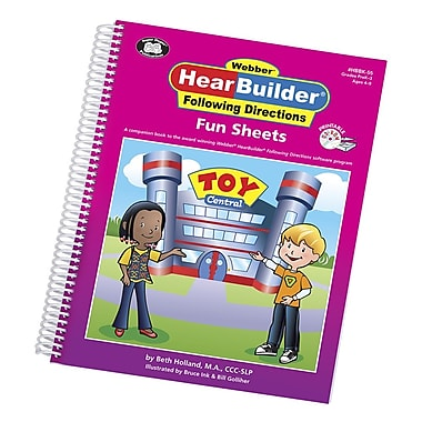 Super Duper® Webber® HearBuilder® Following Directions Fun Sheets, Grades PreK-3