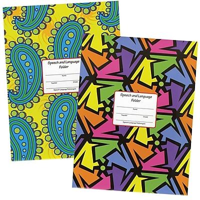 Super Duper® Neon Checkerboard Folder, 10/Pk